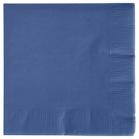 Creative Converting 571137B Navy Blue 3-Ply Beverage Napkin   - 50/Pack
