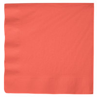 Coral Orange 3-Ply Dinner Napkin, Paper - Creative Converting 593146B - 25/Pack