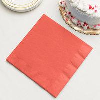 Coral Orange 3-Ply Dinner Napkin, Paper - Creative Converting 593146B - 25/Pack