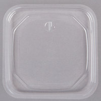 D&W Fine Pack SDIFPLAC1 FreshServe Square PLA Clear Plastic Deli Container Lid   - 1500/Case