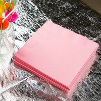 Classic Pink 3-Ply Dinner Napkin, Paper - Creative Converting 59158B - 25/Pack