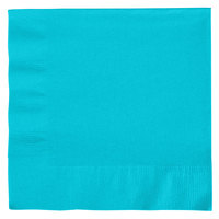 Creative Converting 661039B Bermuda Blue 2-Ply 1/4 Fold Luncheon Napkin - 50/Pack