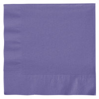 Creative Converting 139371135 Purple 2-Ply 1/4 Fold Luncheon Napkin - 50/Pack