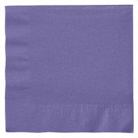 Creative Converting 139371135 Purple 2-Ply 1/4 Fold Luncheon Napkin   - 50/Pack