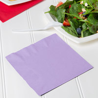 Creative Converting 139186135 Luscious Lavender 2-Ply 1/4 Fold Luncheon Napkin   - 50/Pack