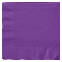 Creative Converting 318929 Amethyst 2-Ply 1/4 Fold Luncheon Napkin - 50/Pack
