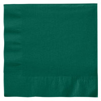 Creative Converting 663124B Hunter Green 2-Ply 1/4 Fold Luncheon Napkin - 50/Pack