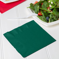 Creative Converting 663124B Hunter Green 2-Ply 1/4 Fold Luncheon Napkin - 50/Pack