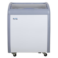 Avantco ICFC6 Curved Lid Display Freezer - 5.7 cu. ft.