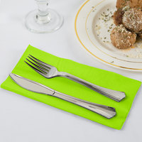 Fresh Lime Green Paper Dinner Napkin, 2-Ply - Creative Converting 673123B - 50/Pack