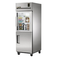 True STG1R-1HG/1HS Specification Series Reach In Refrigerator with Solid and Glass Half Doors - 31 Cu. Ft.