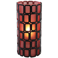 Sterno Products 80332 Ayer 6 inch Orange Frost Lamp
