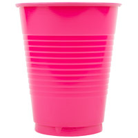 Creative Converting 28177081 16 oz. Hot Magenta Pink Plastic Cup - 20/Pack