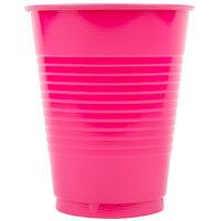 Creative Converting 28177081 16 oz. Hot Magenta Pink Plastic Cup - 20/Pack