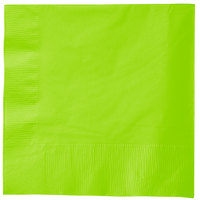 Creative Converting 583123B Fresh Lime Green 3-Ply 1/4 Fold Luncheon Napkin - 50/Pack