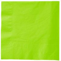 Creative Converting 583123B Fresh Lime Green 3-Ply 1/4 Fold Luncheon Napkin - 50/Pack