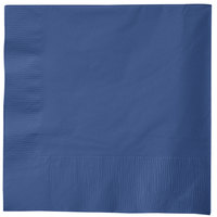 Creative Converting 581137B Navy 3-Ply 1/4 Fold Luncheon Napkin - 50/Pack