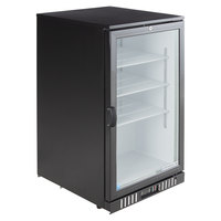 Beverage-Air CT96-1-B-LED Black Countertop Display Refrigerator with Swing Door