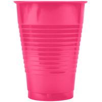 Creative Converting 28177071 12 oz. Hot Magenta Pink Plastic Cup - 20/Pack