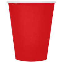 Creative Converting 561031B 9 oz. Classic Red Poly Paper Hot / Cold Cup - 24/Pack