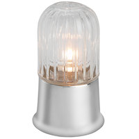 Sterno Products 80400 6 1/2 inch Julep Chrome Base with Amelia Clear Globe