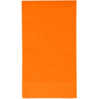 Creative Converting 95191 Sunkissed Orange 3-Ply Guest Towel / Buffet Napkin - 16/Pack