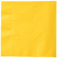 Creative Converting 581021B School Bus Yellow 3-Ply 1/4 Fold Luncheon Napkin - 50/Pack