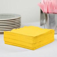 Creative Converting 581021B School Bus Yellow 3-Ply 1/4 Fold Luncheon Napkin - 50/Pack