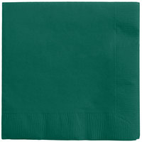 Creative Converting 573124B Hunter Green 3-Ply Beverage Napkin - 50/Pack