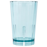 Cambro HT12CW196 Camwear Huntington 12 oz. Azure Blue Customizable Squat Plastic Tumbler - 36/Case