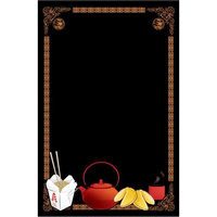 24 inch x 36 inch Black Marker Board with Chinese Graphic RMV-2436-CF