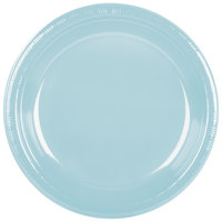 "Creative Converting 28157031 10"" Pastel Blue Plastic Plate - 20/Pack"