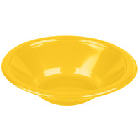Creative Converting 28102151 12 oz. School Bus Yellow Plastic Bowl - 20/Pack