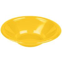 Creative Converting 28102151 12 oz. School Bus Yellow Plastic Bowl   - 20/Pack