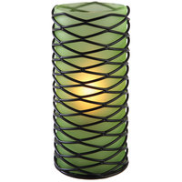 Sterno Products 80340 Brandy Diamond 6 inch Green Frost Lamp