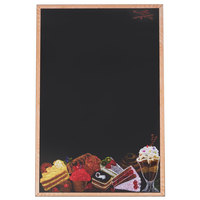24 inch x 36 inch Black Marker Board with Dessert Graphic RMF-2436-DES
