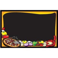 24 inch x 36 inch Black Marker Board with Pizza Graphic RMV-2436-P