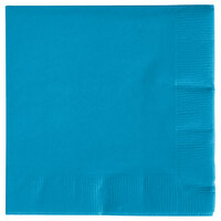 Creative Converting 573131B Turquoise 3-Ply Beverage Napkin - 50/Pack