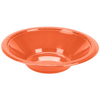 Creative Converting 28312051 12 oz. Bittersweet Orange Plastic Bowl - 20/Pack