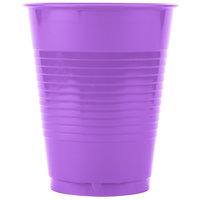 Creative Converting 318922 16 oz. Amethyst Purple Plastic Cup - 20/Pack