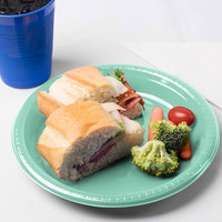 Creative Converting 318878 9 inch Fresh Mint Green Plastic Plate - 20/Pack