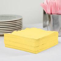 Creative Converting 58102B Mimosa Yellow 3-Ply 1/4 Fold Luncheon Napkin - 50/Pack