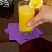 Creative Converting 318923 Amethyst 3-Ply Beverage Napkin - 50/Pack