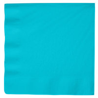 Creative Converting 591039B Bermuda Blue 3-Ply Paper Dinner Napkin - 25/Pack