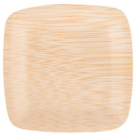 Bambu 063800 3 1/2 inch Disposable Square Bamboo Tasting Plate - 25/Pack
