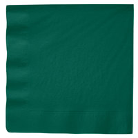 Hunter Green 3-Ply Dinner Napkin, Paper - Creative Converting 593124B - 25/Pack