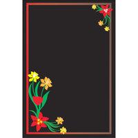 Rainbow Sign Mfg. RMV-2436-FL 24 inch x 36 inch Black Marker Board with Flower Graphic