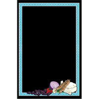 24 inch x 36 inch Black Marker Board with Mediterranean Graphic RMV-2436-MDF
