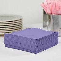 Creative Converting 58115B Purple 3-Ply 1/4 Fold Luncheon Napkin - 50/Pack