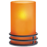 Sterno Products 80366 Brooklynn 4 inch Orange Frost Lamp